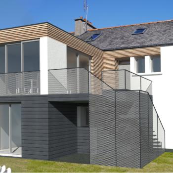 extension D - vue jardin - projet